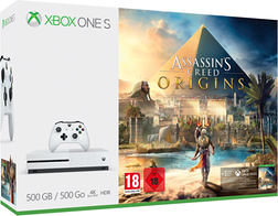 MICROSOFT Xbox One S, 500GB, Assassin's Creed Bundle