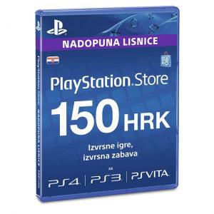 PSN Network prepaid kod od 150 KUNA 150kn HRK
