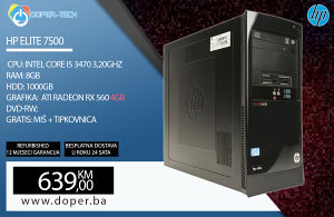 Računar HP Elite; Core i5-3470 3,20GHz; 8GB DDR3 RAM