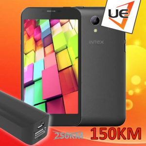INTEX Smart Phone AQUA Star 4G Black +  POKLON