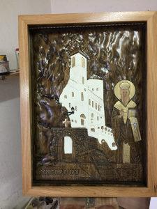 Izrada ikona u duborezu,Manastir Ostrog