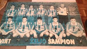 Stari poster FK Željezničar Željo šampion