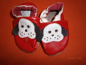 KOŽNE cipelice za bebe.Uzrast 6-12 mjeseci.Kao nove!