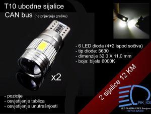 T10 ubodne LED SMD pozicije aluminijsko kućište