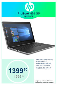 Laptop HP Probook 450 G5 2RS03EA i5-8250U