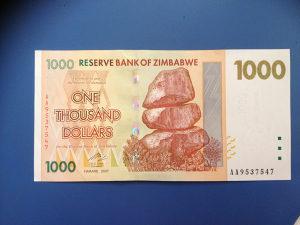Novčanice ZIMBABWE--UNC