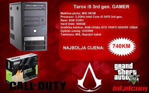 GAMING RAČUNAR Tarox Core i5 3rd gen. GTX 1050Ti