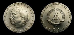 Kovanica broj 78 srebro 10 maraka 1967