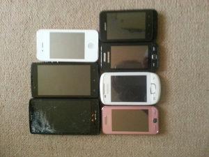 6 mobitela za dijelove