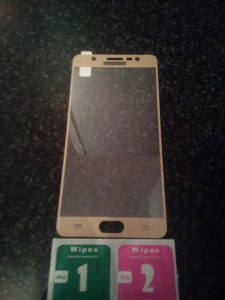 Samsung Galaxy J7 Max - Zaštitno/kaljeno staklo zlatno