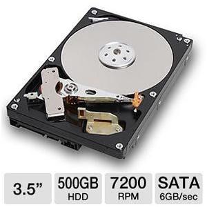 Toshiba 500GB sata III 6gb/s 7200rpm 32mb