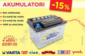 Akumulatori -15% # bez održavanja!