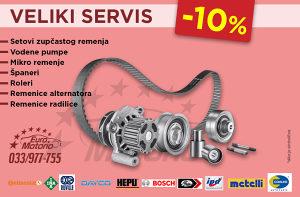 AKCIJA # Veliki servis -10%