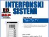 Interfon/Portafon  tastatura za audio interfon T4-4