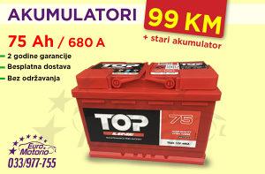 Akumulator 75Ah - 99 KM - Besplatna dostava!