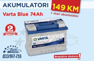 Akumulator Varta Blue 74Ah - 149 KM # BESPLATNA DOSTAVA