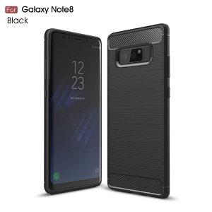 Carbon-Fiber maska za Samsung Note 8 -Crna-