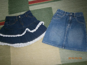Dvije suknjice od trapera .Marka C&A i EXIT.Kao nove!