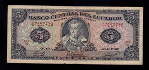 Ekvador 5 sucres 1979