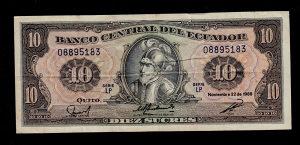 Ekvador 10 sucres 1988