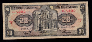 Ekvador 20 sucres 1988