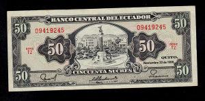 Ekvador 50 sucres 1988
