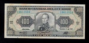 Ekvador 100 sucres 1991