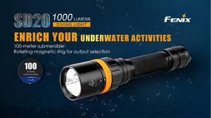 Baterijska lampa Fenix SD20 ronilačka podvodna