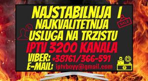 IPTV 3200 KANALA, VIDEOTEKA.Podrška 24/7