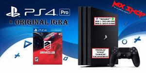 Playstation 4 PRO 1TB + ORIGINAL IGRA DRIVECLUB PS4 1