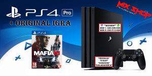 Playstation 4 PRO 1TB + ORIGINAL IGRA MAFIA 3 III PS4