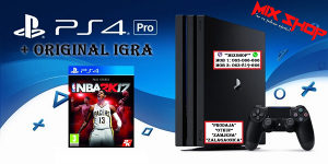 Playstation 4 PRO 1TB +ORIGINAL IGRA NBA 2K17 17 PS4 TB
