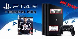 Playstation 4 PRO 1TB + IGRA NFL MADDEN 18 2018 PS4