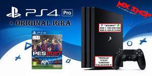 Playstation 4 PRO +ORIGINAL IGRA PES 17 2017 soccer PS4