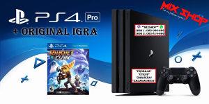 Playstation 4 PRO + ORIGINAL IGRA RATCHET i CLANK PS4