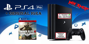 Playstation 4 PRO 1TB +ORIGINAL IGRA SNIPER ELITE 4 PS4