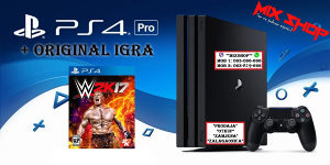 Playstation 4 PRO 1TB + IGRA WWE 2K17 W2K17 kečeri PS4