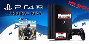 Playstation 4 PRO 1TB + ORIGINAL IGRA WATCH DOGS 2 PS4