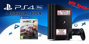 "Playstation 4 PRO 1TB + ORIGINAL IGRA WRC 7 ""rally"" PS4"