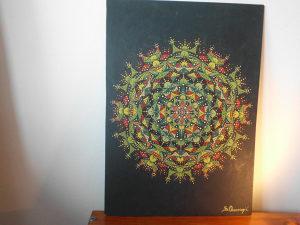 umjetnička slika-pointilzam-akril
