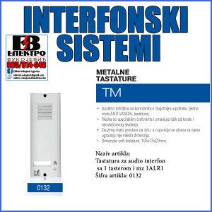 Interfon tastatura audio sa 1 tasterom i mz 1ALR1