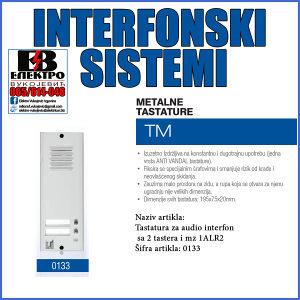 Tastatura za audio interfon sa 2 tastera i mz 1ALR2