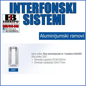 Ram aluminijumski za 1 tastaturu 03x0301