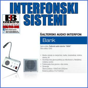 "Šalterski audio interfon ""BANK"""