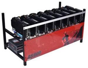 Mining Rig 8 x AMD Radeon RX 580 8GB 235Mh/s