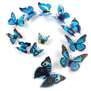 3D plavi leptirići sa magnetom