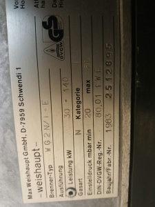 Plamenik na plin plinski od 140 kw