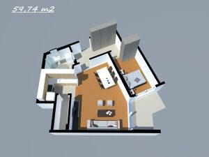 Stan u Tuzli,SPO O-8 (59,74 m2)