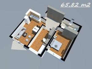 Stan u Tuzli,SPO O-8 (65,82 m2)