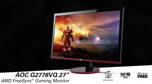 """Monitor 27"""" AOC G2778VQ Gaming 1ms VGA HDMI"""